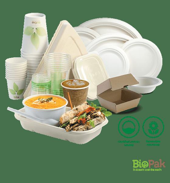 BioPak Environmentally Friendly Food Packaging at WF Plastic 600x559-min
